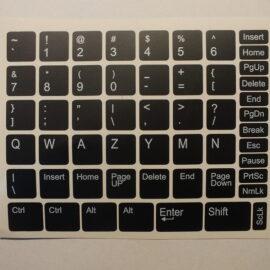 Naklejki na klawiaturę.